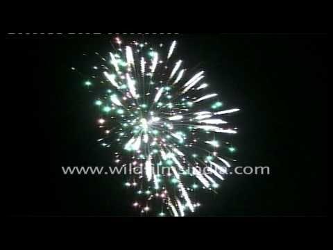 Crackers being burst on Diwali