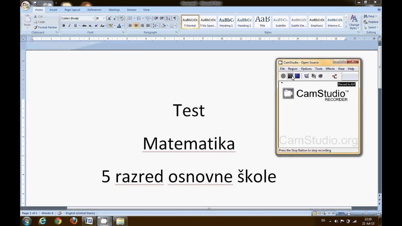 test matematika 5 razred   youtube