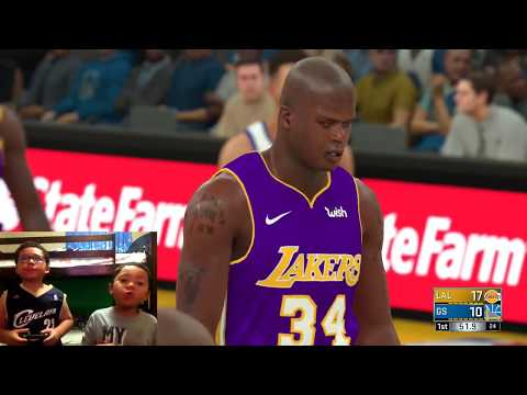 NBA 2K18 All Time Los Angeles Lakers Vs Golden State Warriors PS4 Gameplay