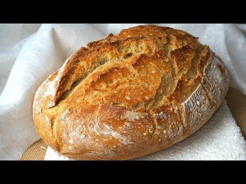 Pan casero fácil. Corteza y miga sorprendentes (con harina común)