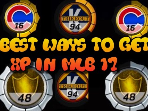 BEST WAYS TO GET XP IN MLB 17 - HOW TO GET SILVER, GOLD, AND DIAMOND LEVEL XP TIER FAST & EASY