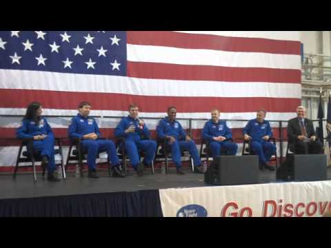 STS-133: Crew Return Ceremony at Ellington Field