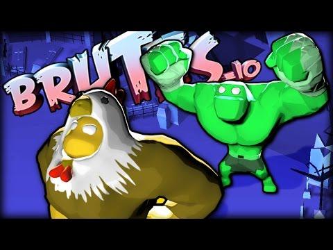 GET BACK HERE CHICKEN MAN! - Brutes.io Gameplay