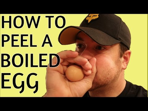 How to peel a boiled egg faster