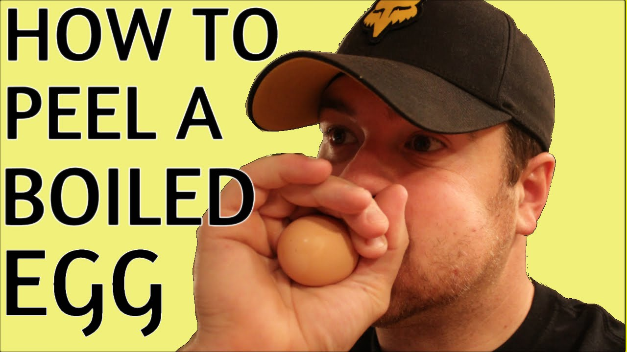 How To Peel A Boiled Egg The Easy And Fast Way!! Tim Ferriss Style!