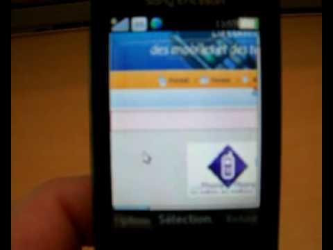 navigation Internet avec le Sony Ericsson G705