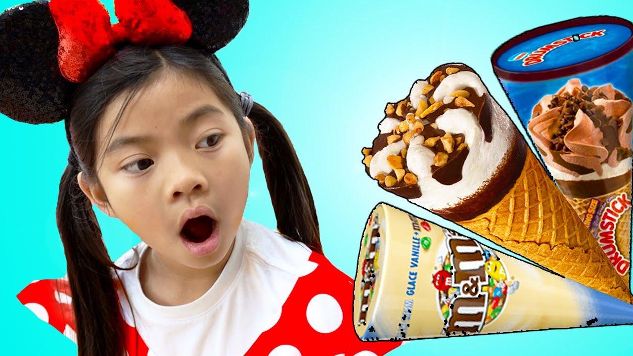 Emma Finge Jugar a Lavarse las Manos Antes de Comer Helado | Video divertido para niños