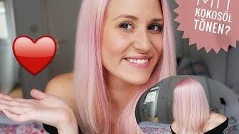 SCHONEND TÖNEN MIT KOKOSÖL? GEHT DAS? DIY - Rosa Haare! ♥ Unicorn Pastel Farbe || MyLifeAsNina