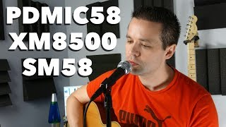 Shure SM58 vs Behringer XM8500 vs Pyle-Pro PDMIC58 - Vocal Microphone Comparison