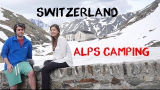 Camping in the Swiss Alps