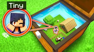 My SECRET Tiny Spot In A MINECRAFT CHEST!