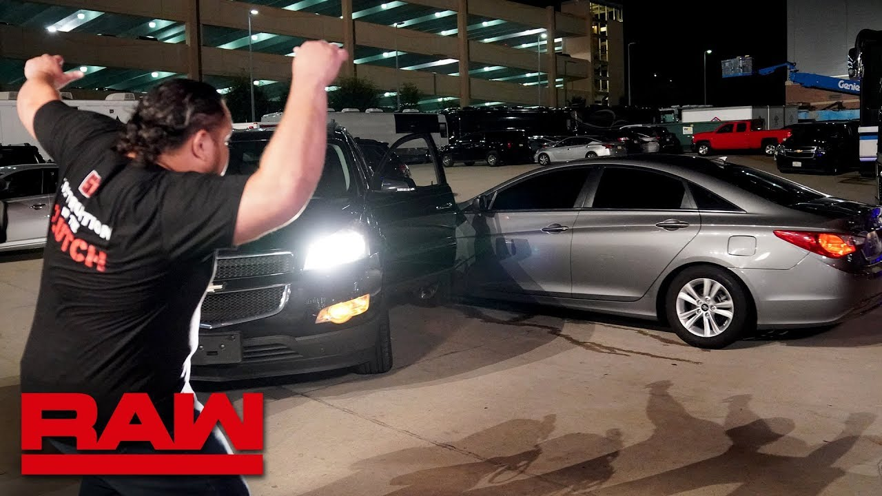 Roman Reigns is nearly run down in the parking lot: Raw, Aug. 5, 2019