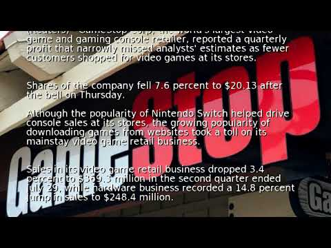 GameStop reports lower-than-expected quarterly profit