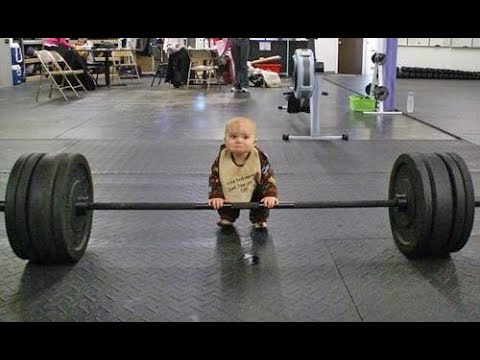 Baby Lifting Weights  Try Not To Laugh  Funny Baby Videos - YouTube
