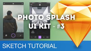 Sketch 3 Design Workflow - Photo Splash UI Kit #03 (iOS) - Sketchapp Tutorial