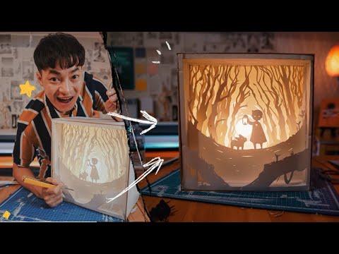กล่องไฟแฟนตาซี Paper Cut LightBox - จงทำDIY
