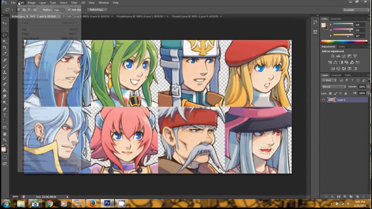 Editing Faces - RPG Maker VX Ace Graphics with Photoshop CS6