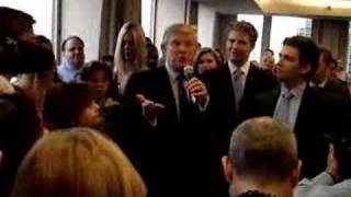 Donald Trump in Trump Plaza Jersey City