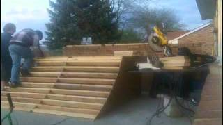 Time Lapsed Quarter Pipe Build