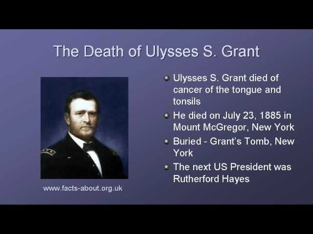 Image result for ulysses s. grant dies