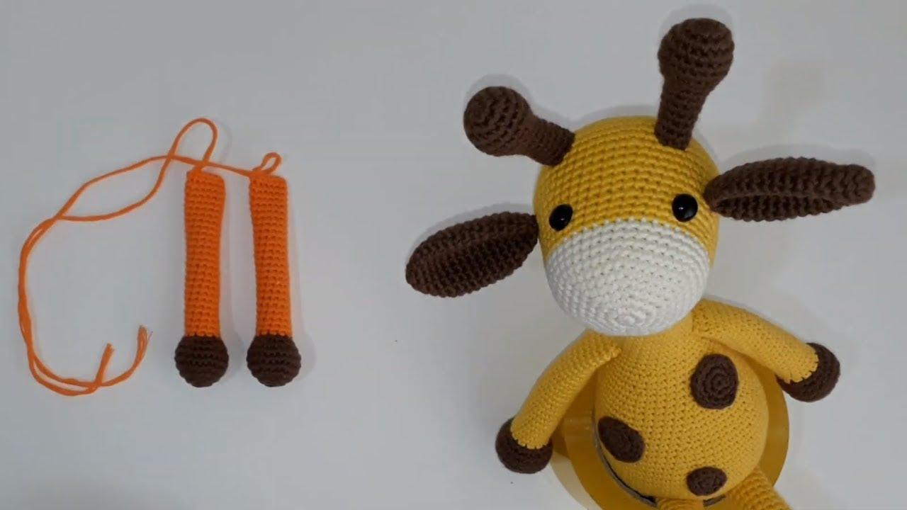 Amigurumi zürafa yapımı Amigurumi zürafa kol yapımı -02