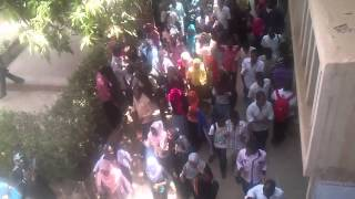 مظاهرات جامعة الخرطوم 18/6/2012 كلية الهندسة