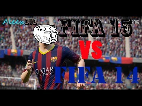 FIFA 15 VS FIFA 14 XBOX360/PS3 EN ESPAÑOL (COMPARACION)