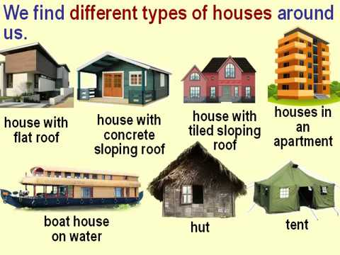 Class 2 Evs Different Types Of Houses For Kids Youtube
