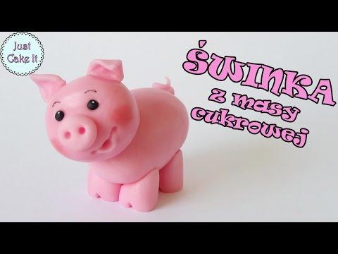 Jak Zrobić Figurkę świnki Z Masy Cukrowej Na Tort