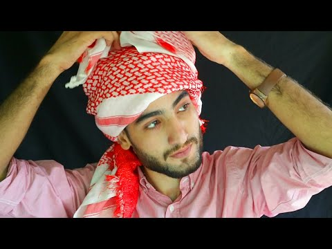 How to tie Omer Borkan Al Gala's Style Arabic headscarf | GHOTRA | SHEMAG Tutorial | Amaan Ullah