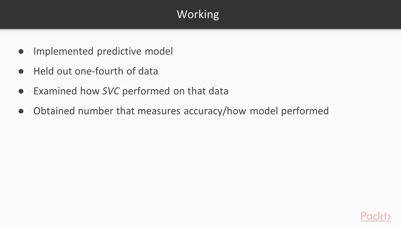 Effective Prediction with Machine Learning : SVM Classification|  packtpub com