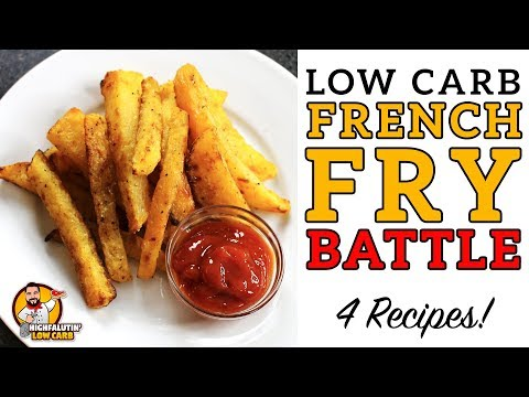 Low Carb FRENCH FRY Battle! – The BEST Keto French Fries Recipe – Jicama v Rutabaga v Turnip v Zukes