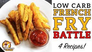 Low Carb FRENCH FRY Battle! - The BEST Keto French Fries Recipe - Jicama v Rutabaga v Turnip v Zukes