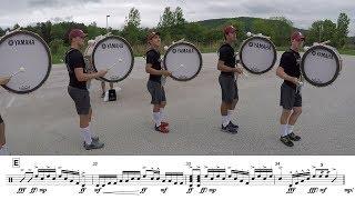 "2018 Boston Crusaders Basses - LEARN THE MUSIC to ""Marimba Spiritual"""