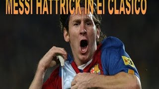 Lionel messi first ever hattrick in elclasico 2007 when he was 19 ● laliga 06/07 ●