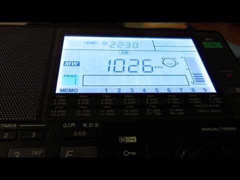 MW: IRIB Radio East Azerbaijan 1026 KHz Tabriz, Iran 2013-08-13