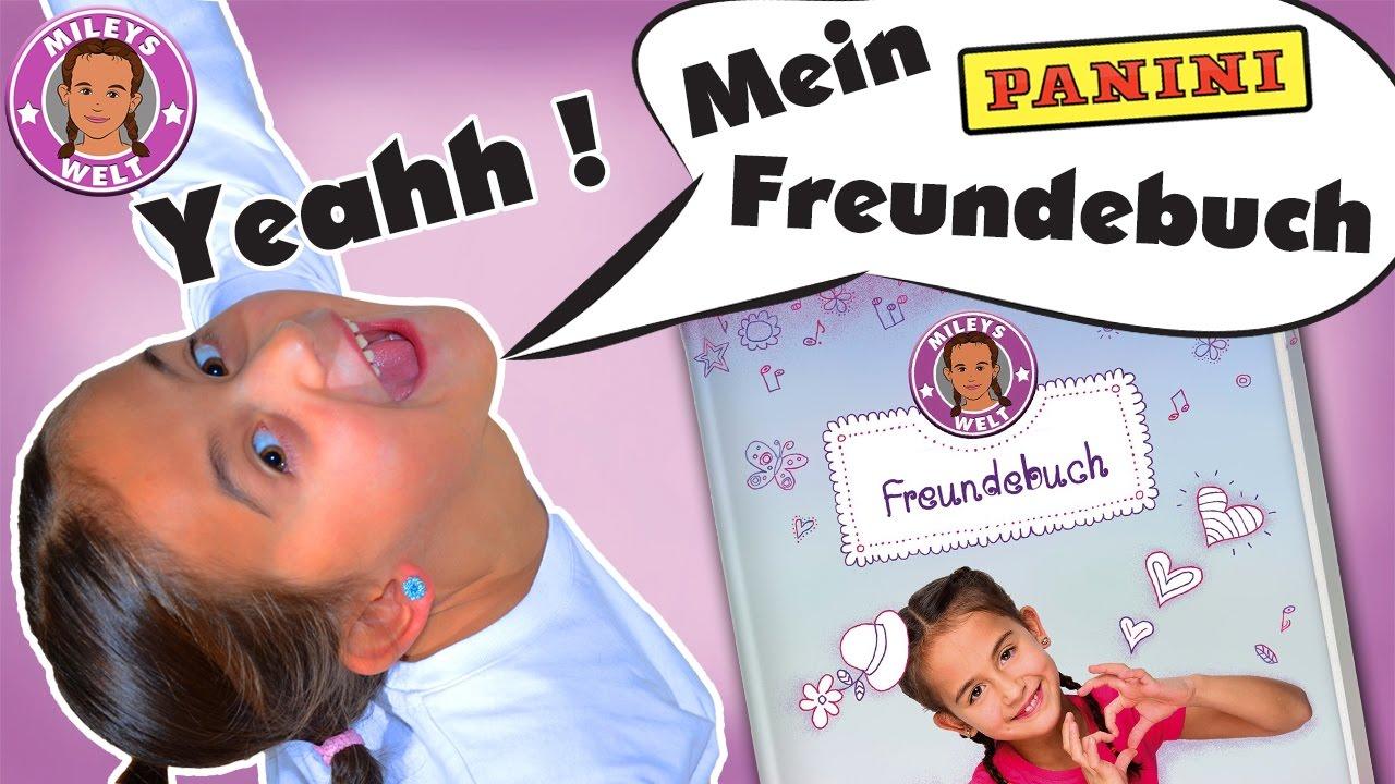 ERSTES YOUTUBER FREUNDEBUCH von Panini - die Sensation ...