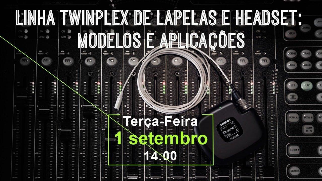 Linha Twinplex de Lapelas e Headsets