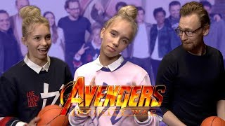 TOM HIDDLESTON (Loki) knows about Musical.ly? | Lisa and Lena