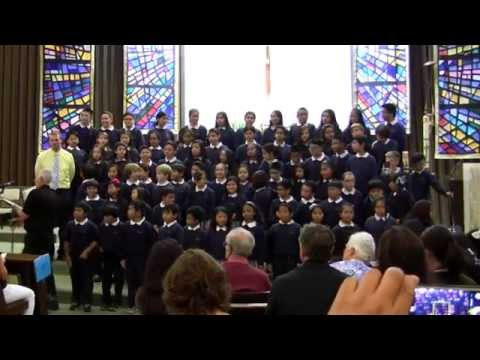 """Choral Festival at Sacred Heart- St Victor School sings """"Play for Me a Simple Melody"""" 2014"""