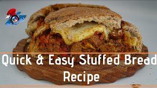 Quick & Easy Stuffed Bread Recipe   Movie Snack   #DoStathi