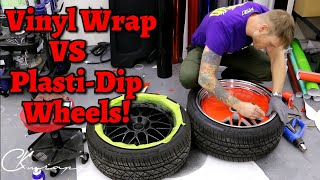 THE DIFFERENCE BETWEEN VINYL WRAP AND PLASTI DIP YOUR WHEELS. Which One Do You Prefer?