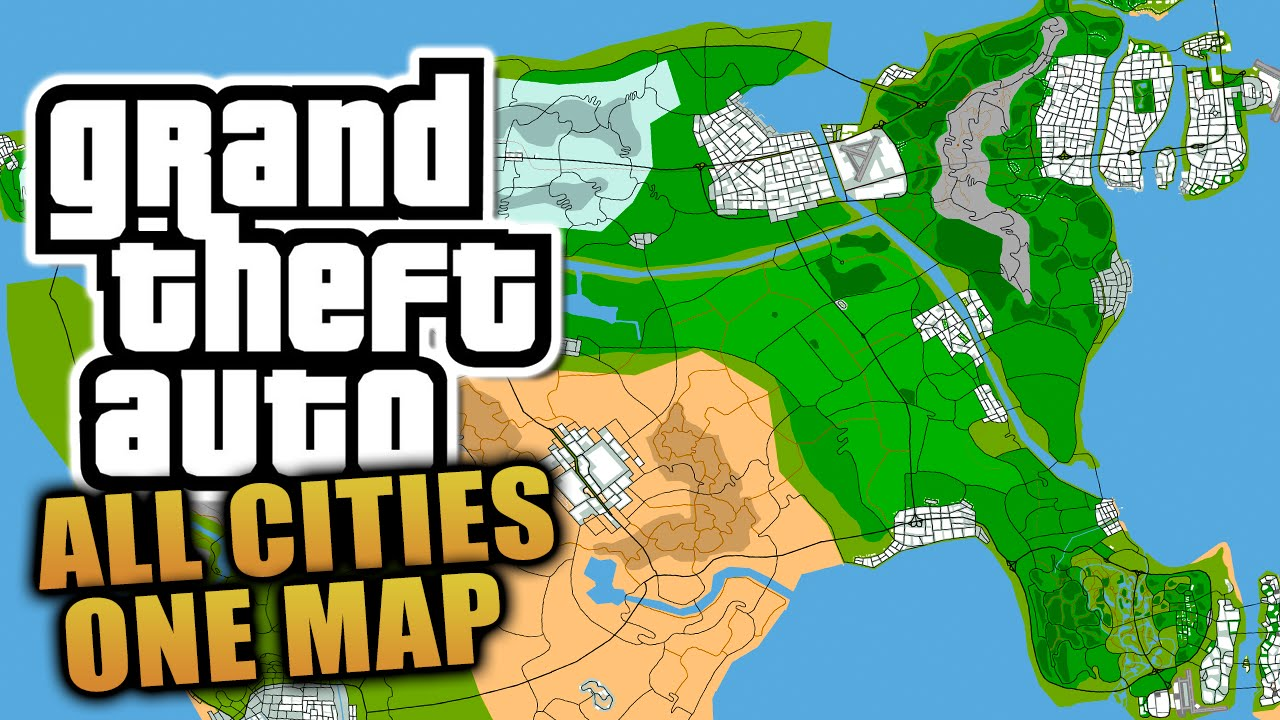 Concept Map - ALL Grand Theft Auto Cities On One Map! - Liberty City ...
