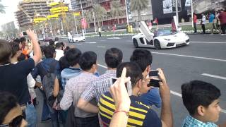 car racing in dubai town on national day 2014