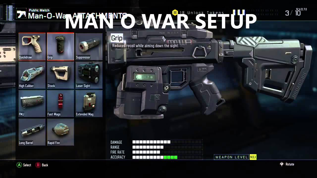 COD: Black Ops 3 MAN O WAR Class Setup With Dark Matter ...