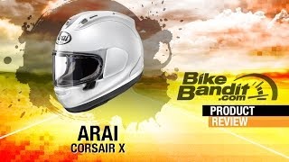 arai corsair x motorcycle helmet at bikebandit com