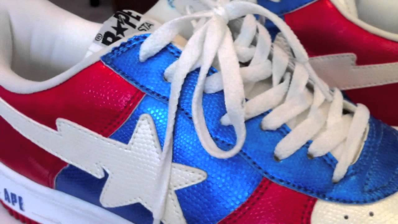 Bapes - Bape Sta collection - 7 colorways - snake   metallic   blue   red    pony hair. 922ccd563