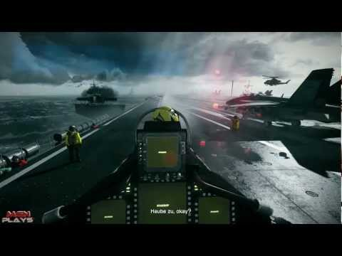 Battlefield 3 Walkthrough #4 - Auf der Jagd / Jet Mission [1080P HD/DE/PC]