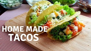 Home Made Tacos with Ground Beef and Cheese - Pinoy Recipes