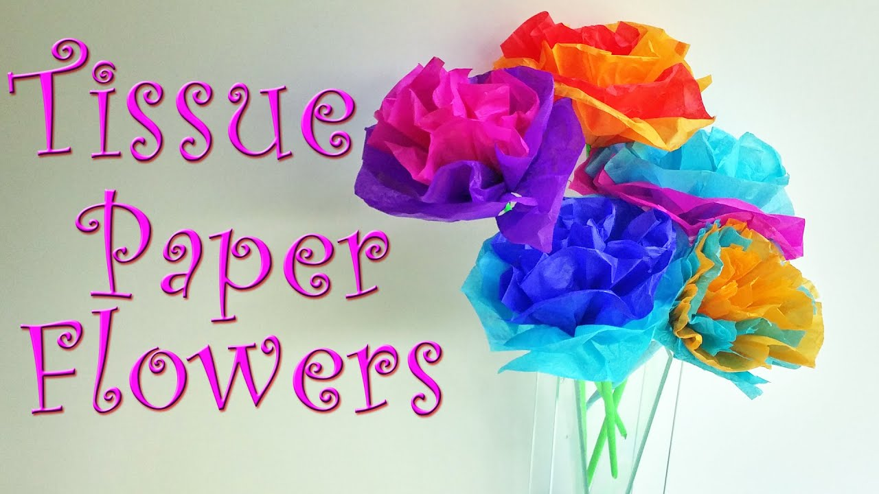 Diy crafts how to make tissue paper flowers easy ana diy crafts youtube premium mightylinksfo